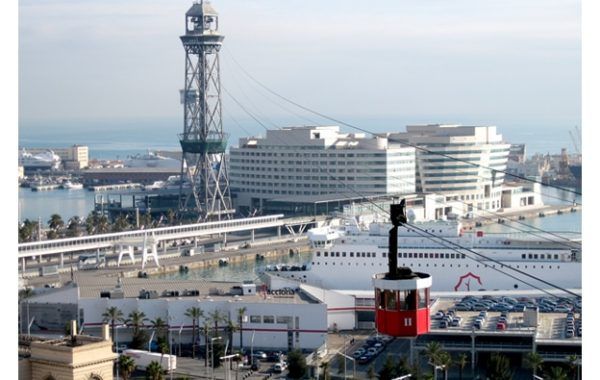 voyage-famille-barcelone-téléphérique-monjuic