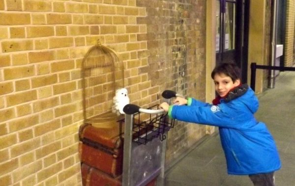 Londres en famille Harry Potter plateforme 9