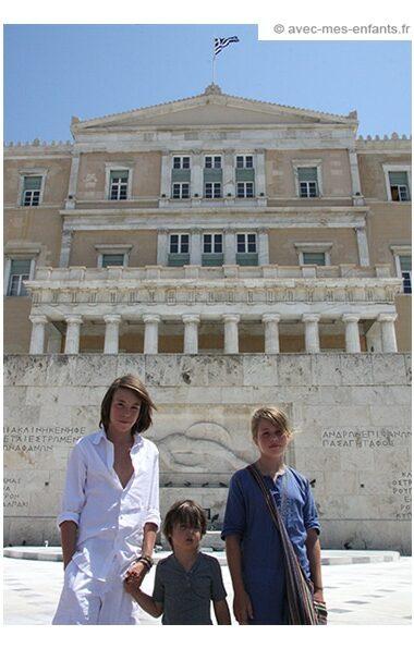 voyage-famille-athenes-avec-enfants-syntagma-parlement-grec