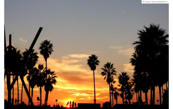 los-angeles-en-famille-venice-beach-sunset