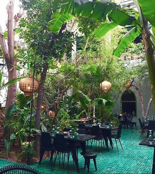 Marrakech en famille restaurant le jardin avec mes enfants for Restaurant avec jardin dans le 92