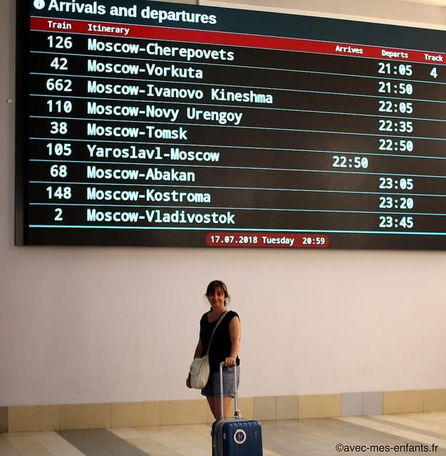Itinéraire Transsibérien et étapes de Moscou à Beijing
