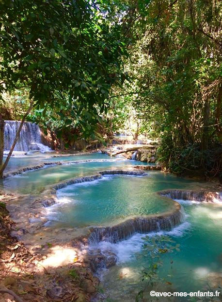 Laos-en-famille-Kuang-Si-Falls