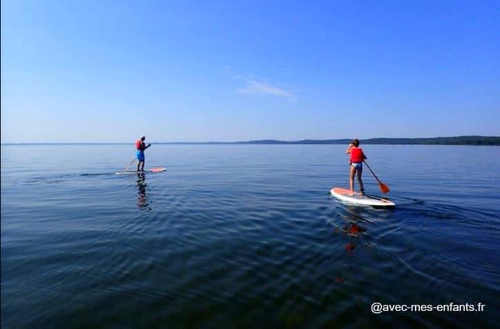lac cazaux activite paddle avec enfant