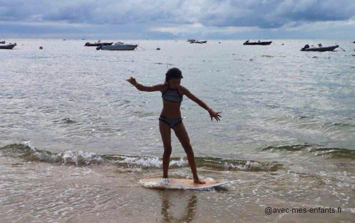plage arcachon surf enfant