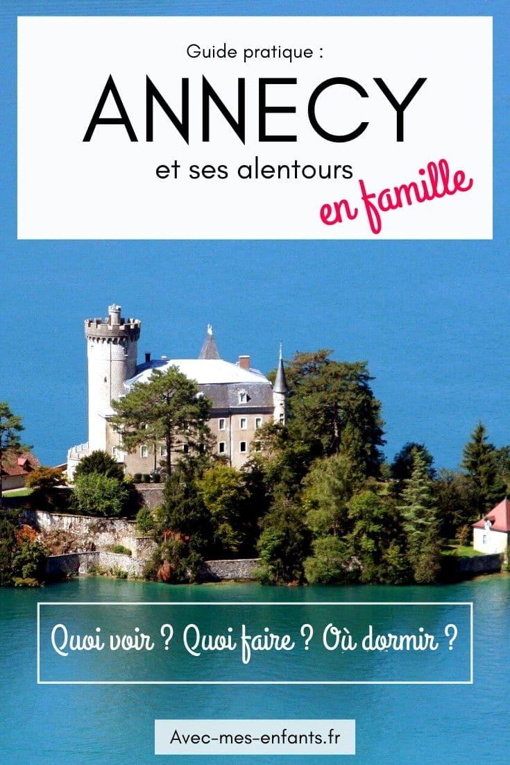 Annecy en famille lac d'Annecy avec enfants blog voyage en famille