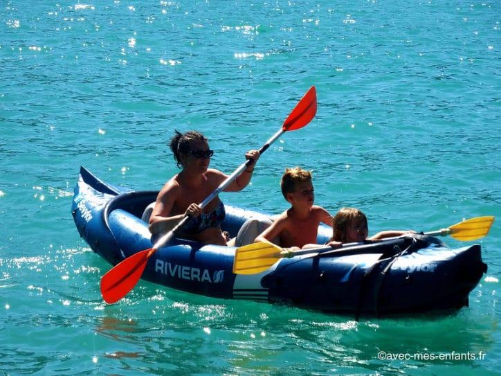 lac d'annecy avec enfants canoé