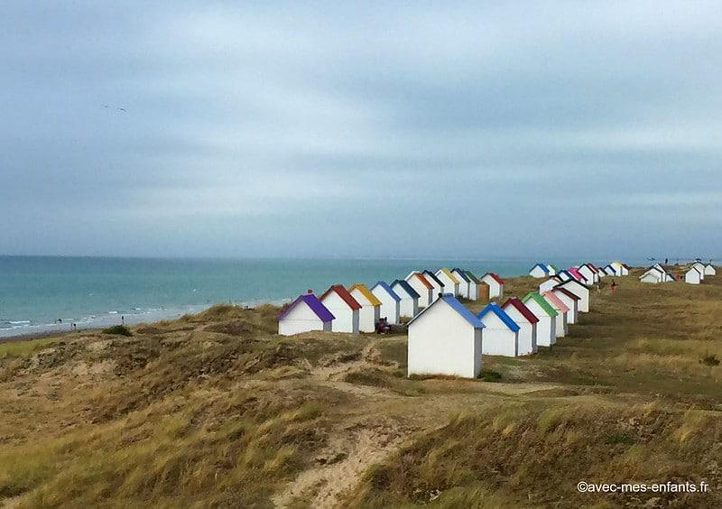Cotentin en famille cabanes de plage à Gouville