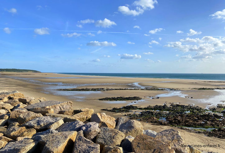 Cotentin en famille plage Sciotot