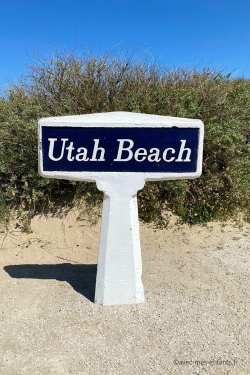 Utah beach Cotentin en famille plage du débarquement